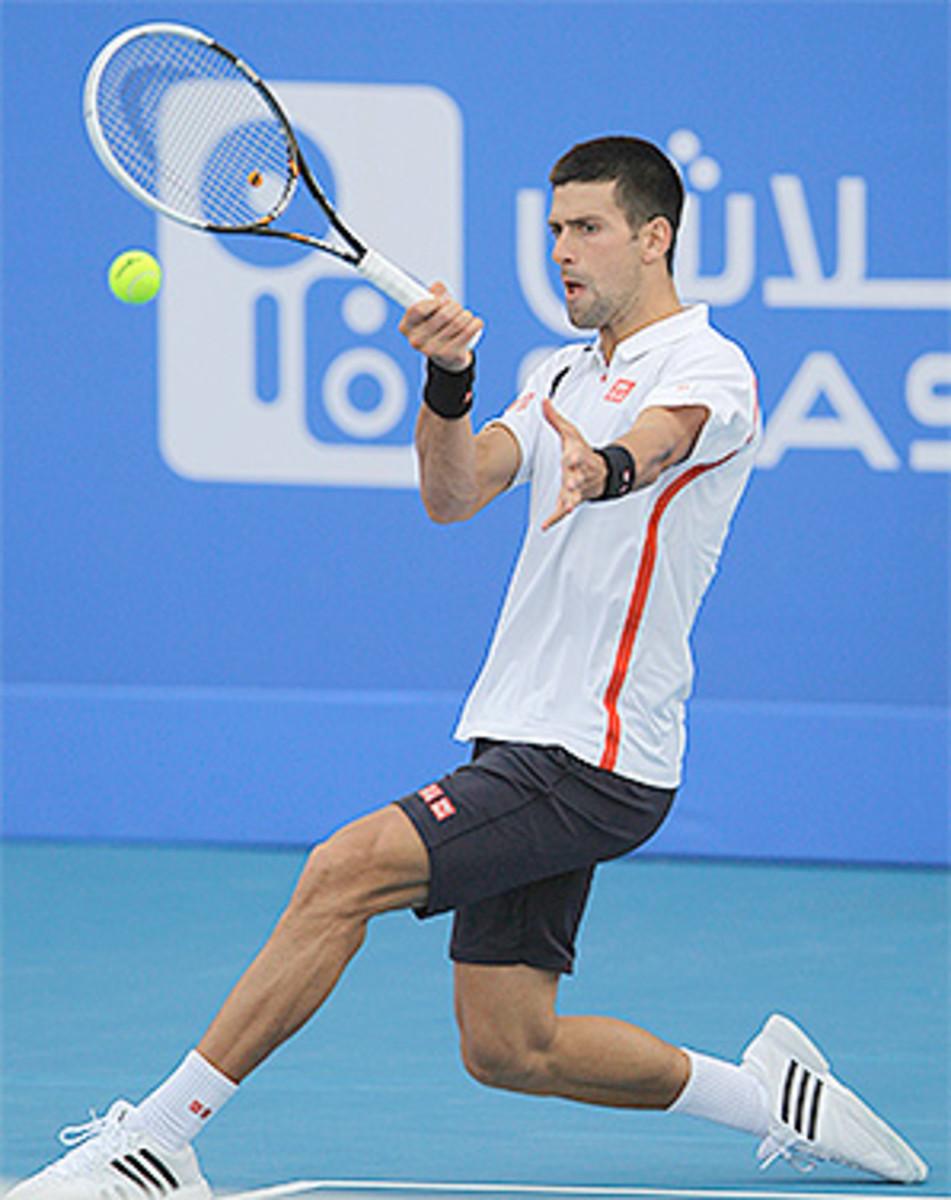 Novak Djokovic will play Spain's Nicolas Almagro in the final of the World Tennis Championship exhibition.