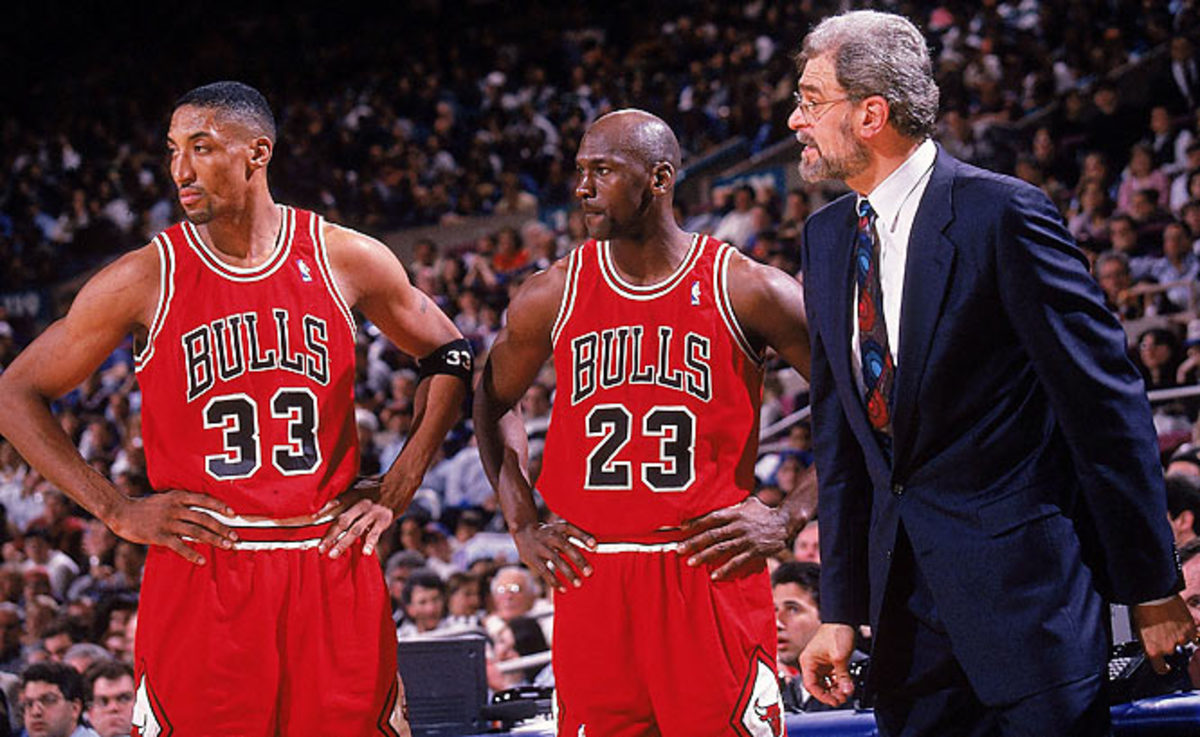 Michael Jordan, Scottie Pippen and Phil Jackson