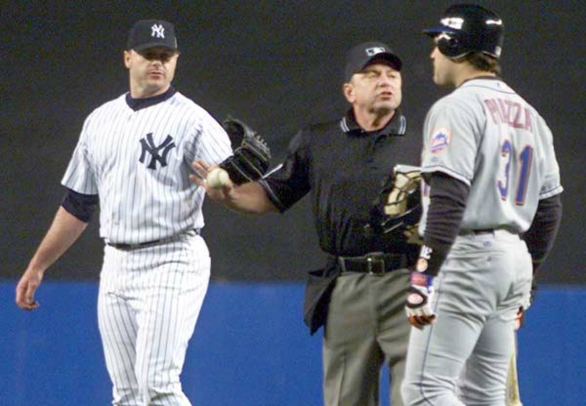 Roger Clemens and Mike Piazza