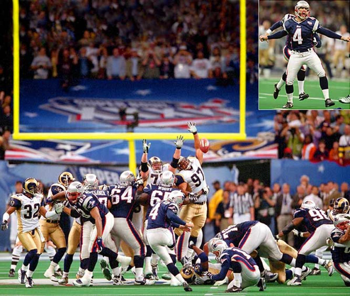 AdamVinatieri's Super Bowl-winning field goals