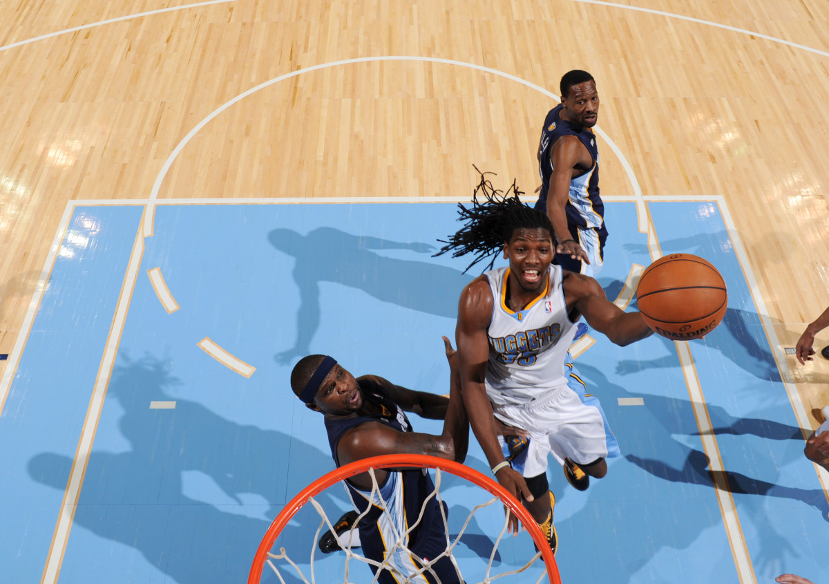 Kenneth Faried gave Denver a boost with his defense and hustle. (Photo by Garrett W. Ellwood/NBAE via Getty Images)