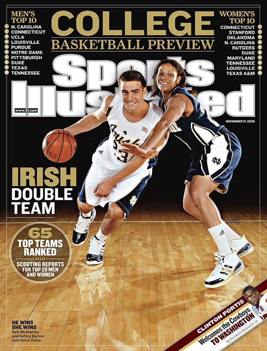 Notre Dame's Kyle McAlarney and Ashley Barlow