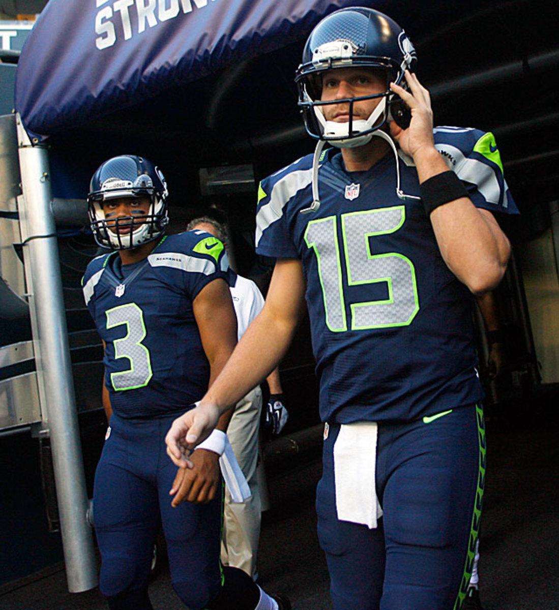 Russell Wilson & Matt Flynn -- Seahawks