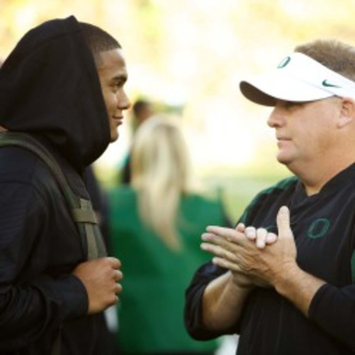Oregon head coach Chip Kelly could be a favorite to replace Andy Reid as the Eagles head coach. (Craig Mitchelldyer/Getty Images)
