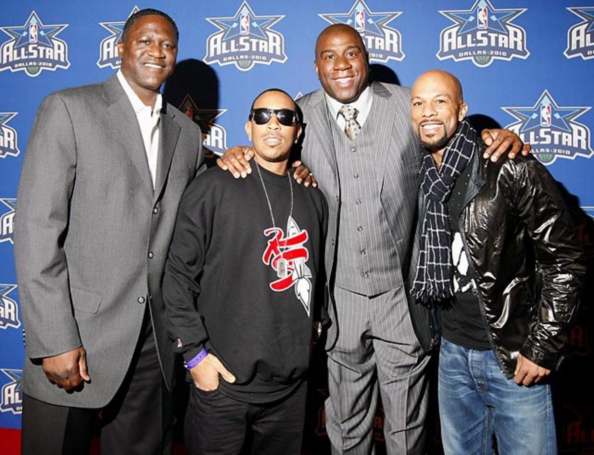 Dominique Wilkins, Ludacris, Magic Johnson, Common