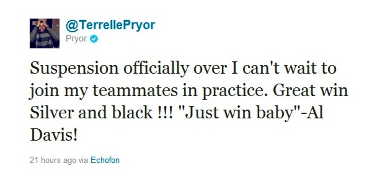 Pryor tweet