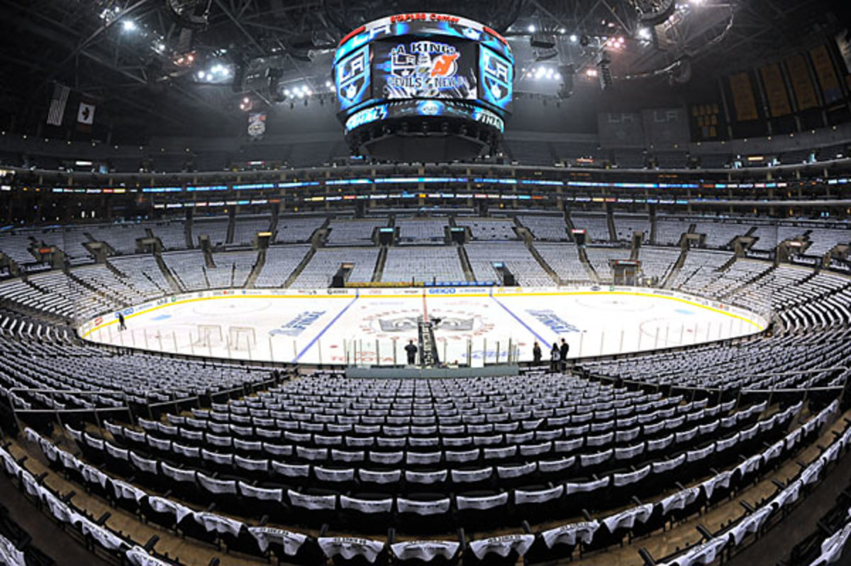 Staples Center sits empty