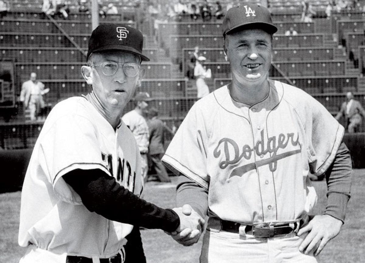 Bill Rigney and Walter Alston