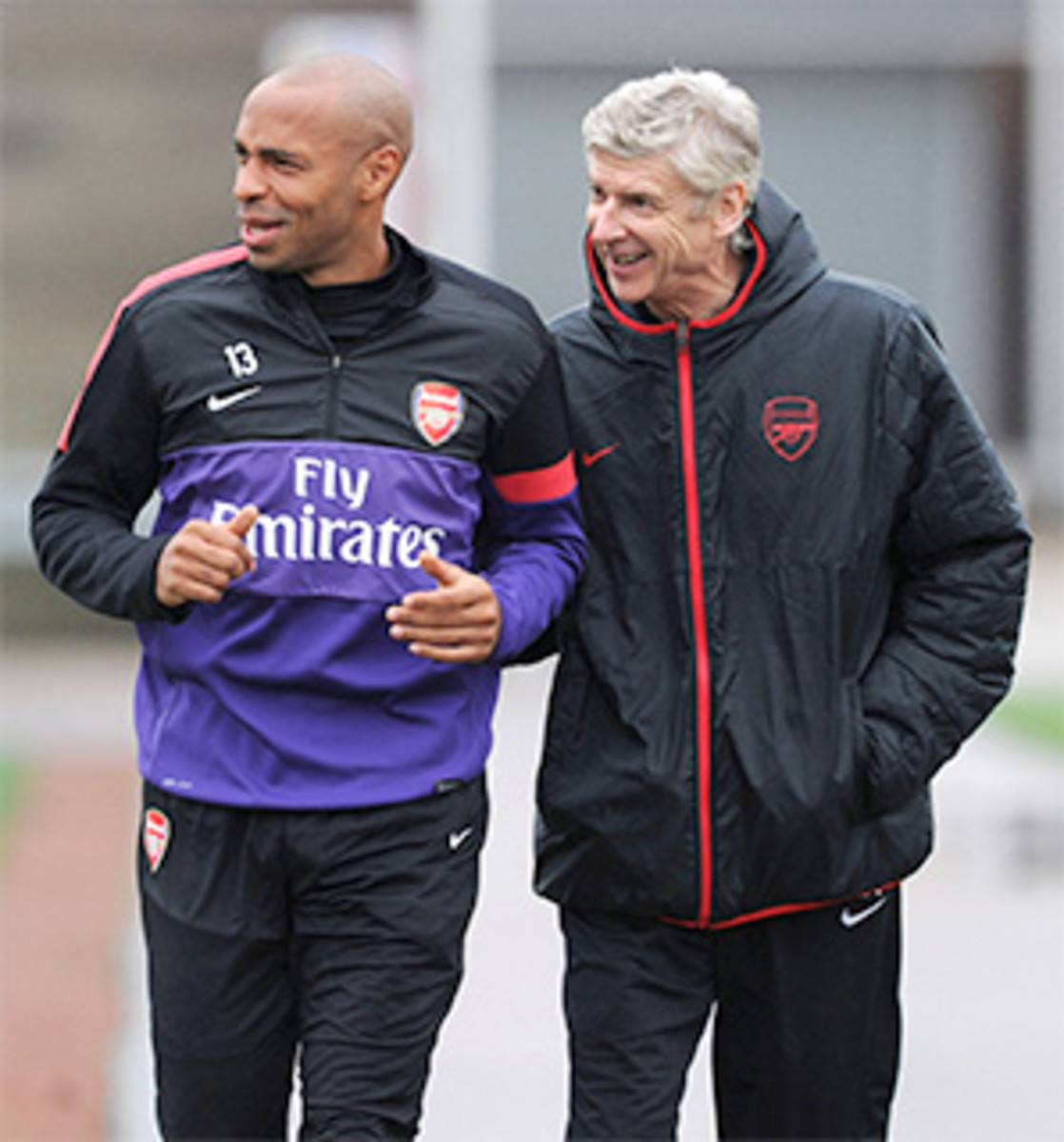 Thierry Henry has been training with Arsenal during the MLS offseason.