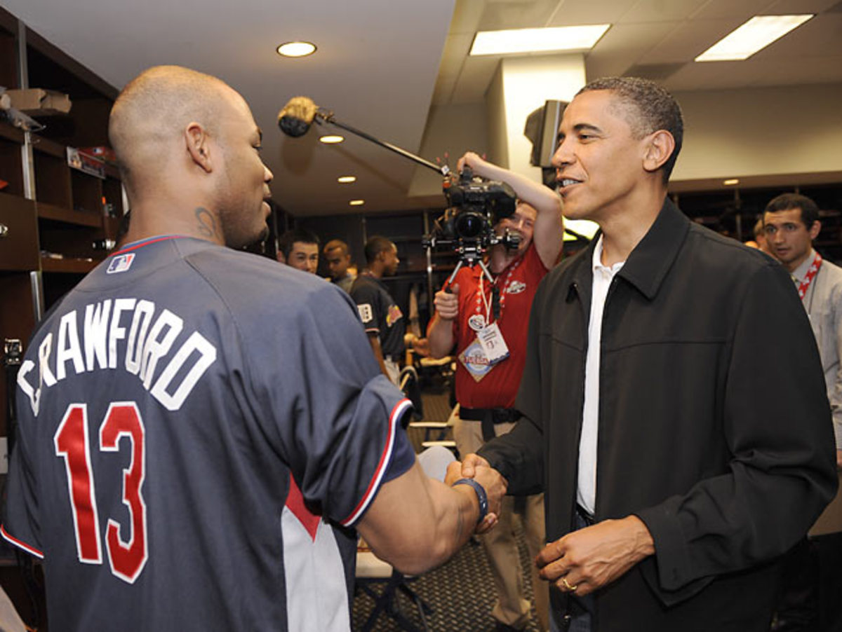 Carl Crawford and Barack Obama