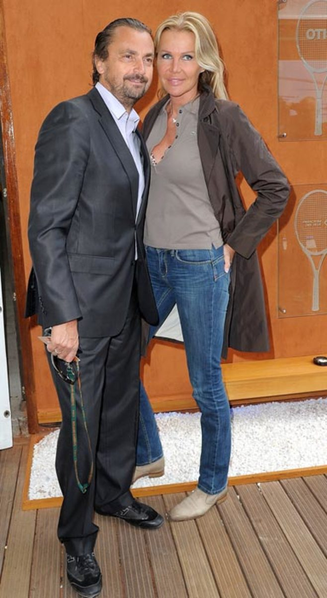 Henri Leconte and his wife Florentine