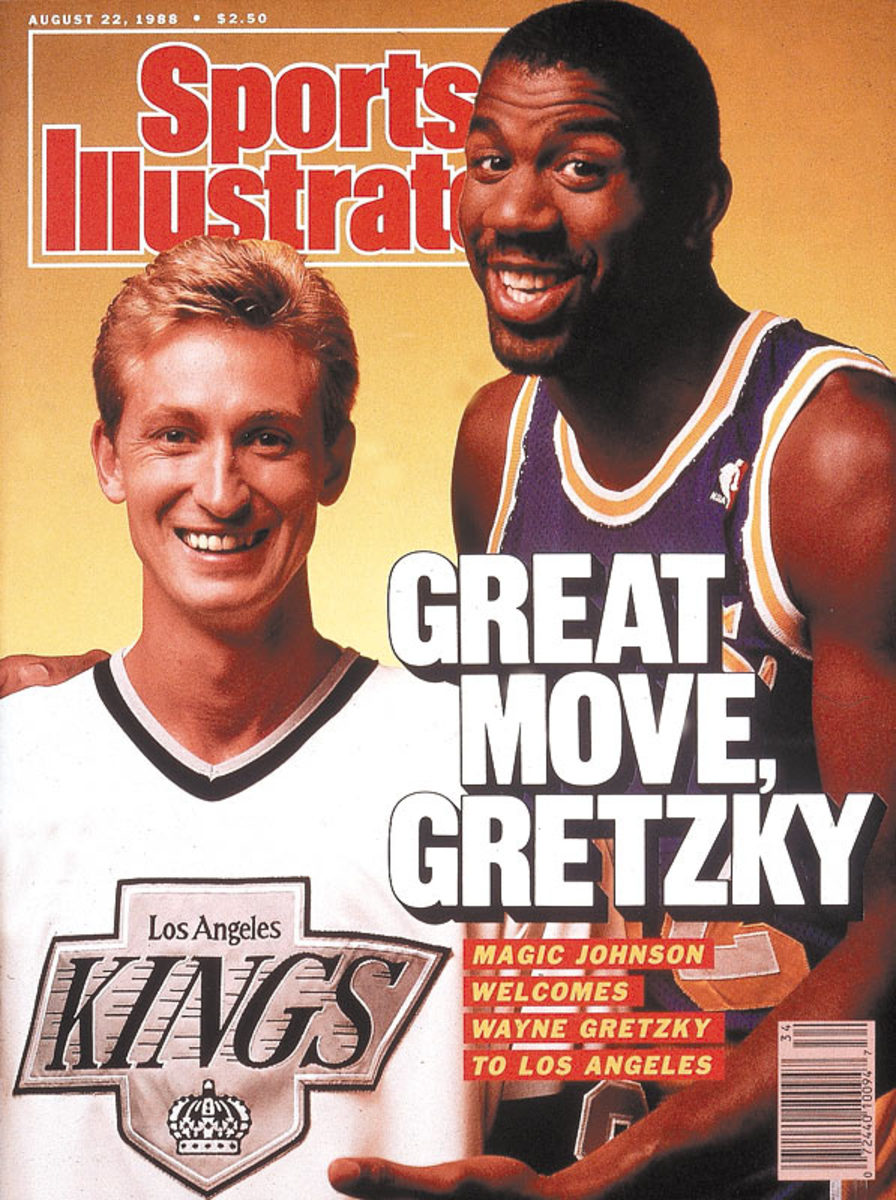 Wayne Gretzky and Magic Johnson