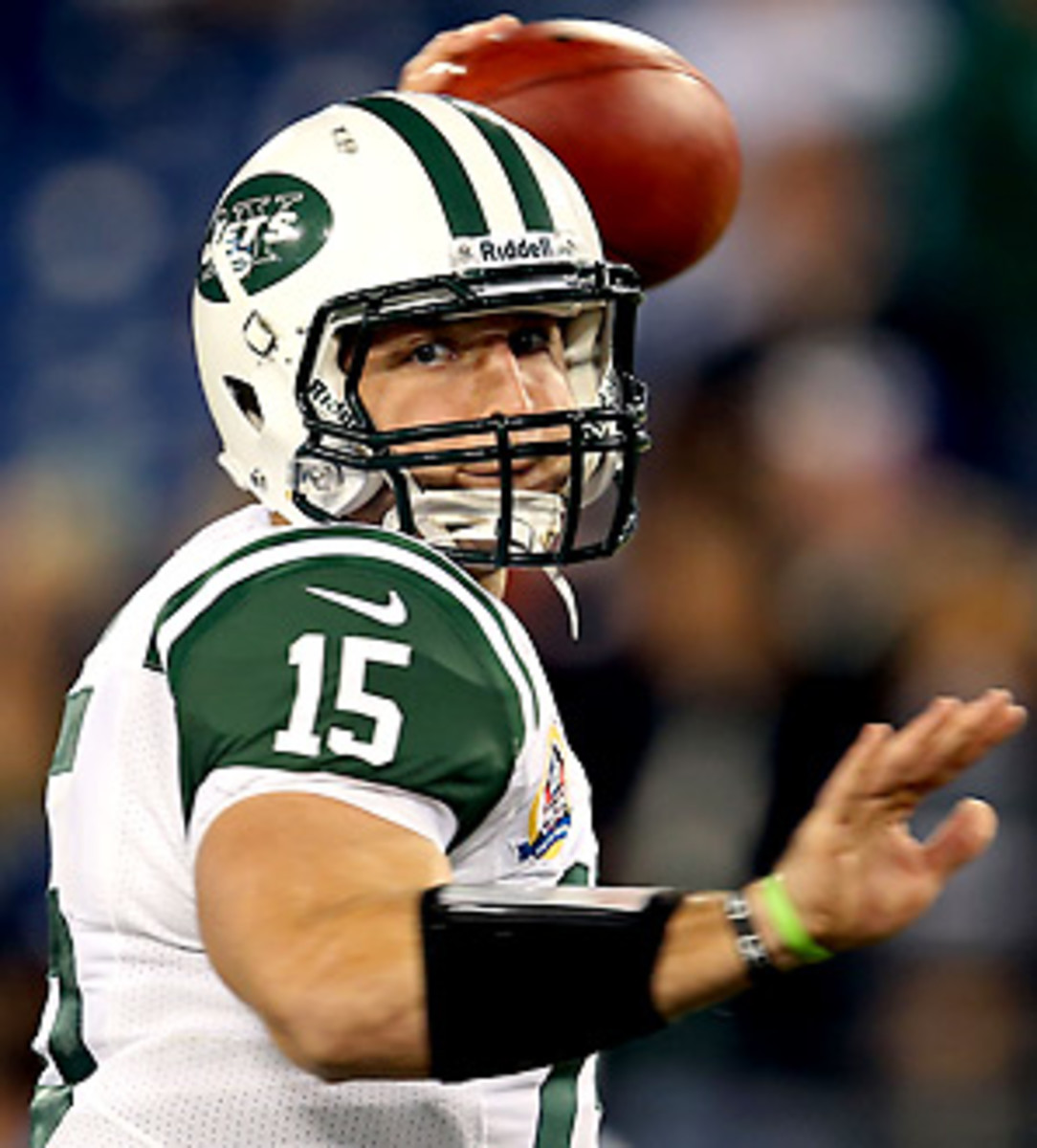 Tim Tebow has attempted just eight passes all season long. (Andy Lyons/Getty Images)