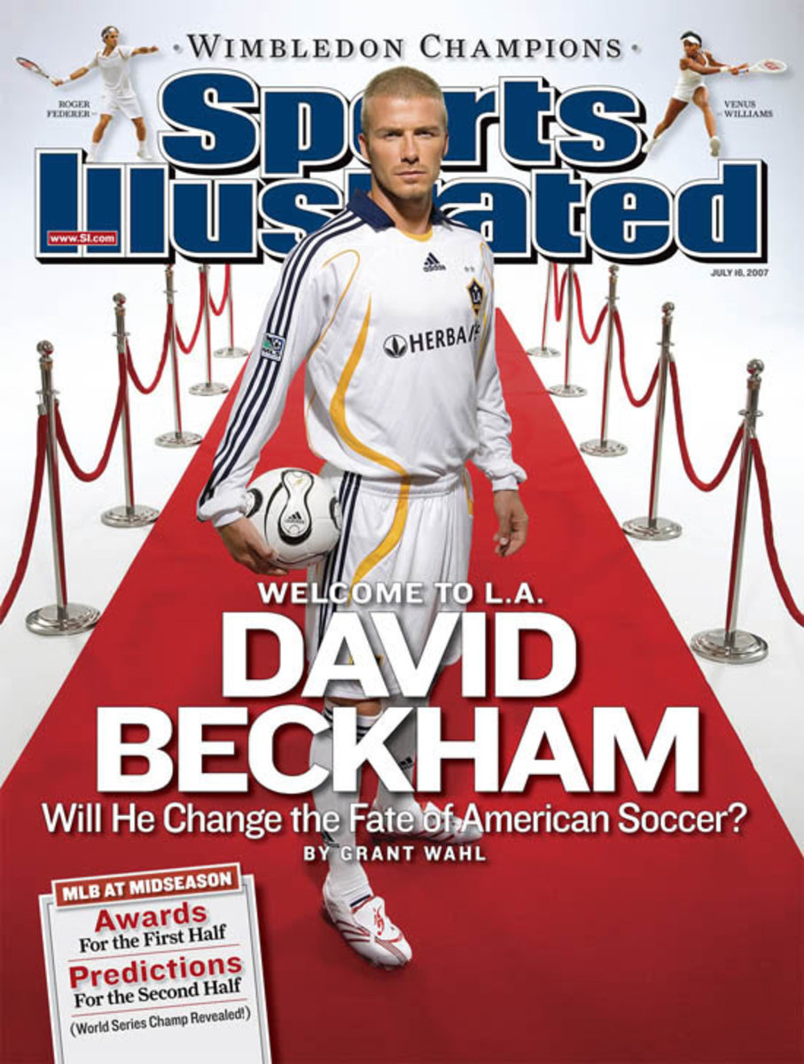 David Beckham signs with the L.A. Galaxy