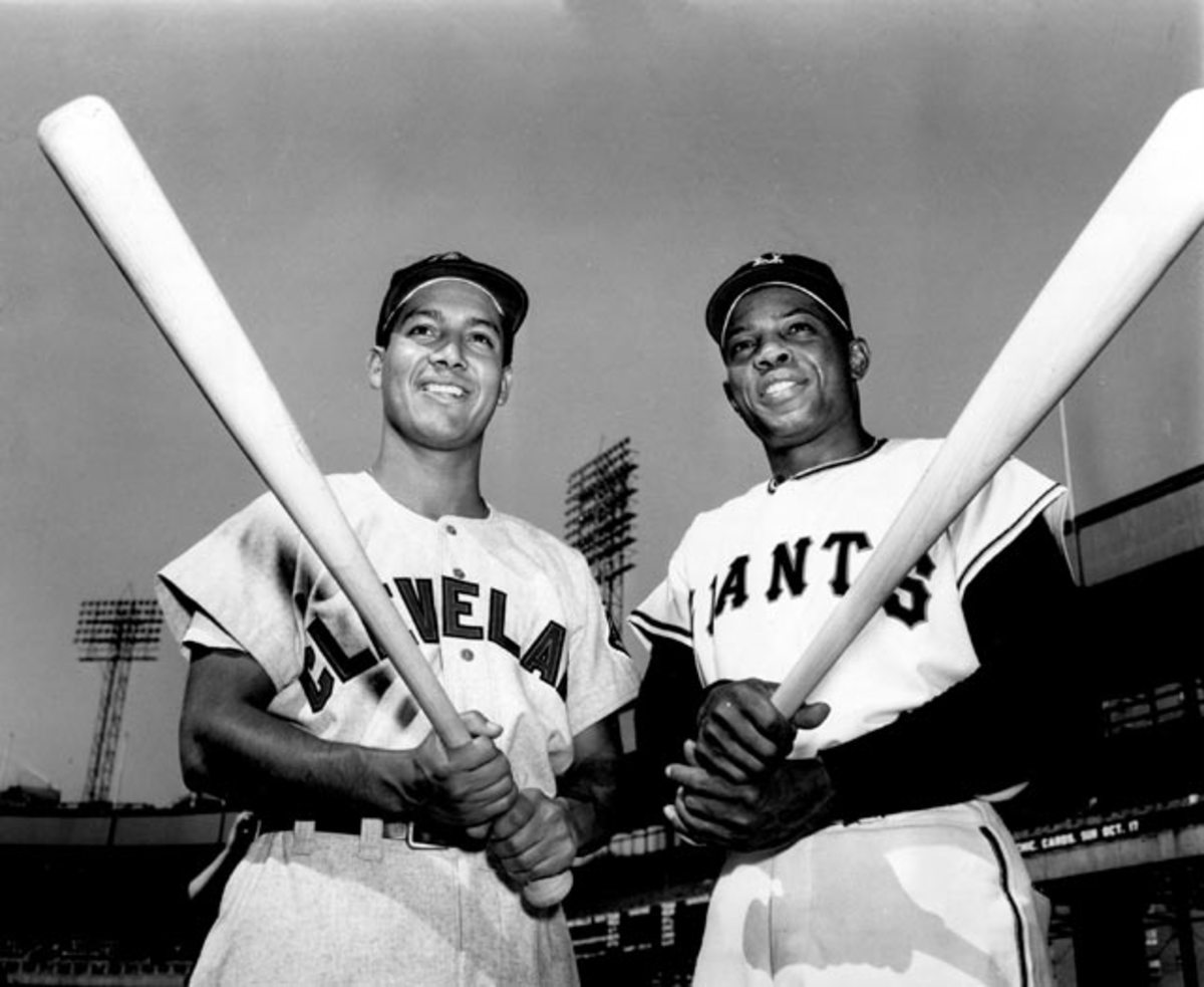 Bobby Avila and Willie Mays