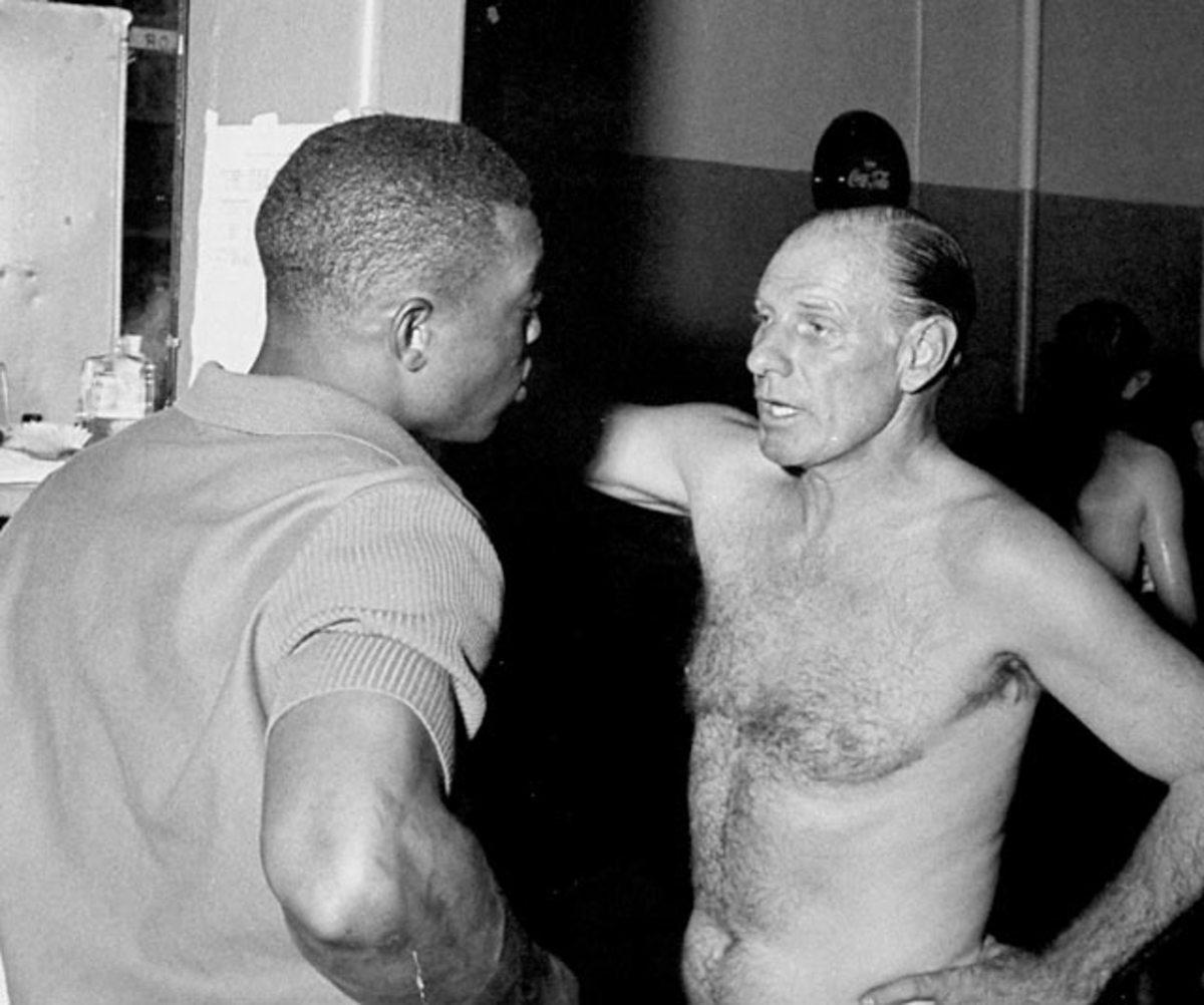 Willie Mays and Leo Durocher