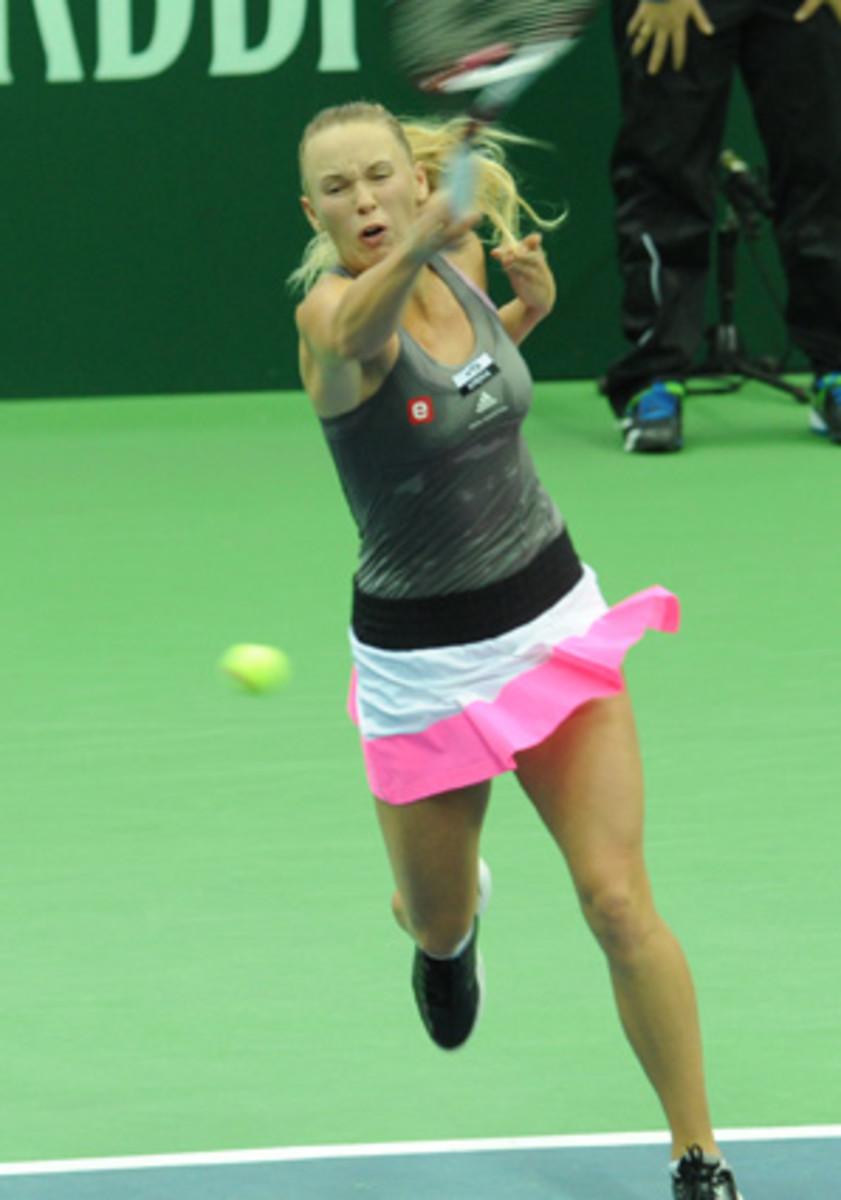 Caroline Wozniacki reached her third final of the season.