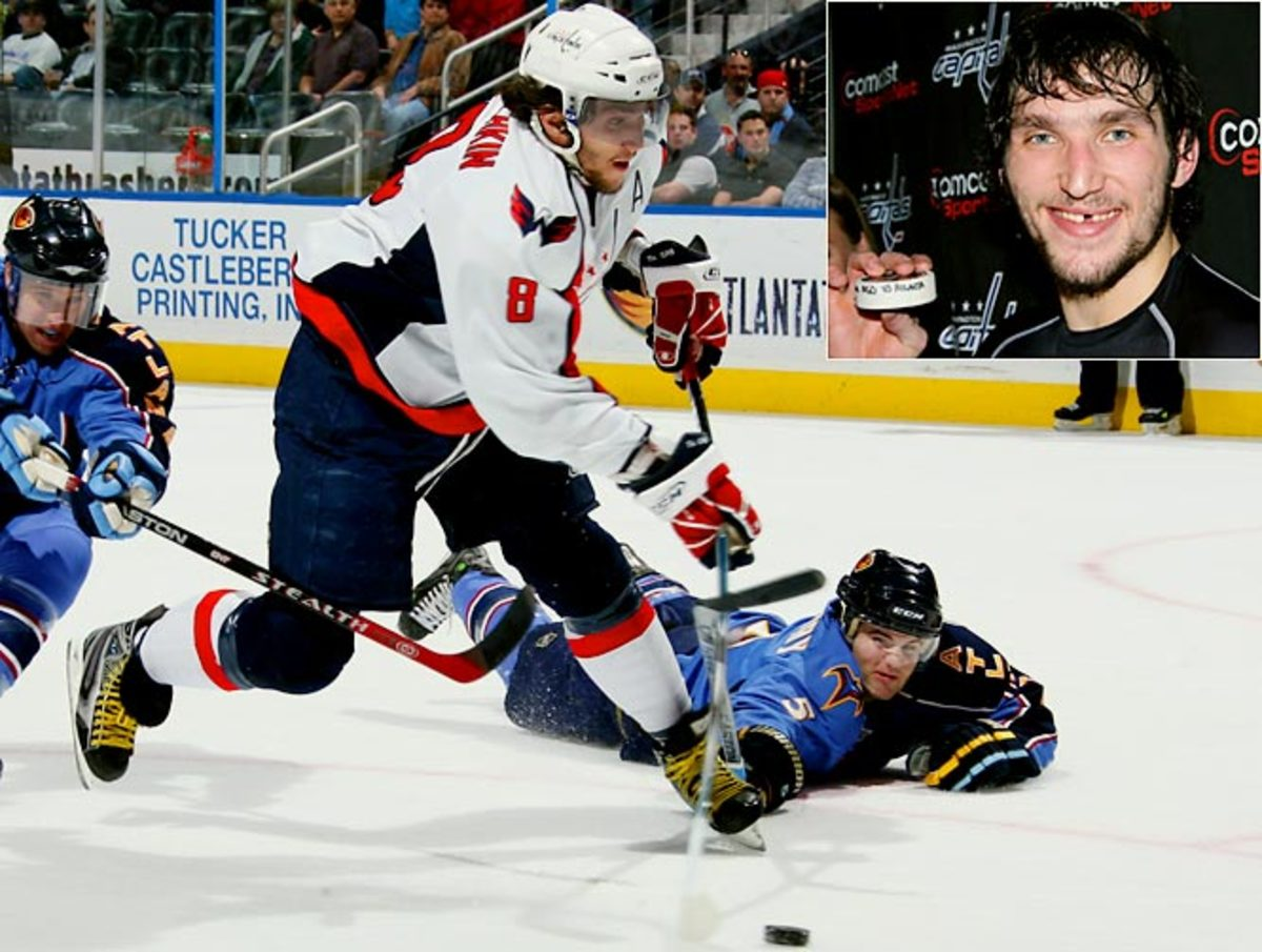 Alex Ovechkin scores his 60th goal