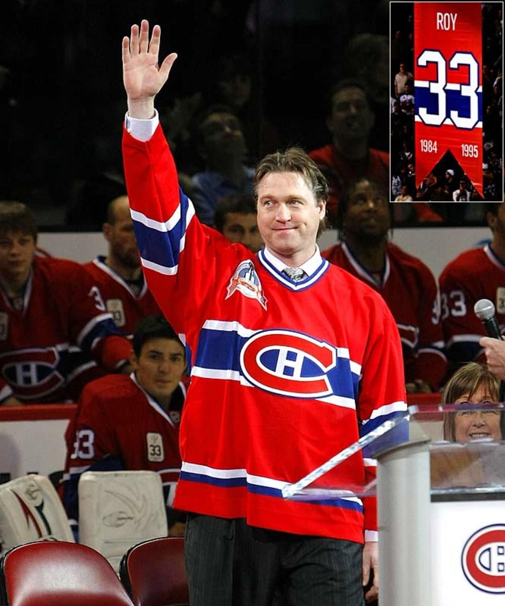 Canadiens honor Patrick Roy's number