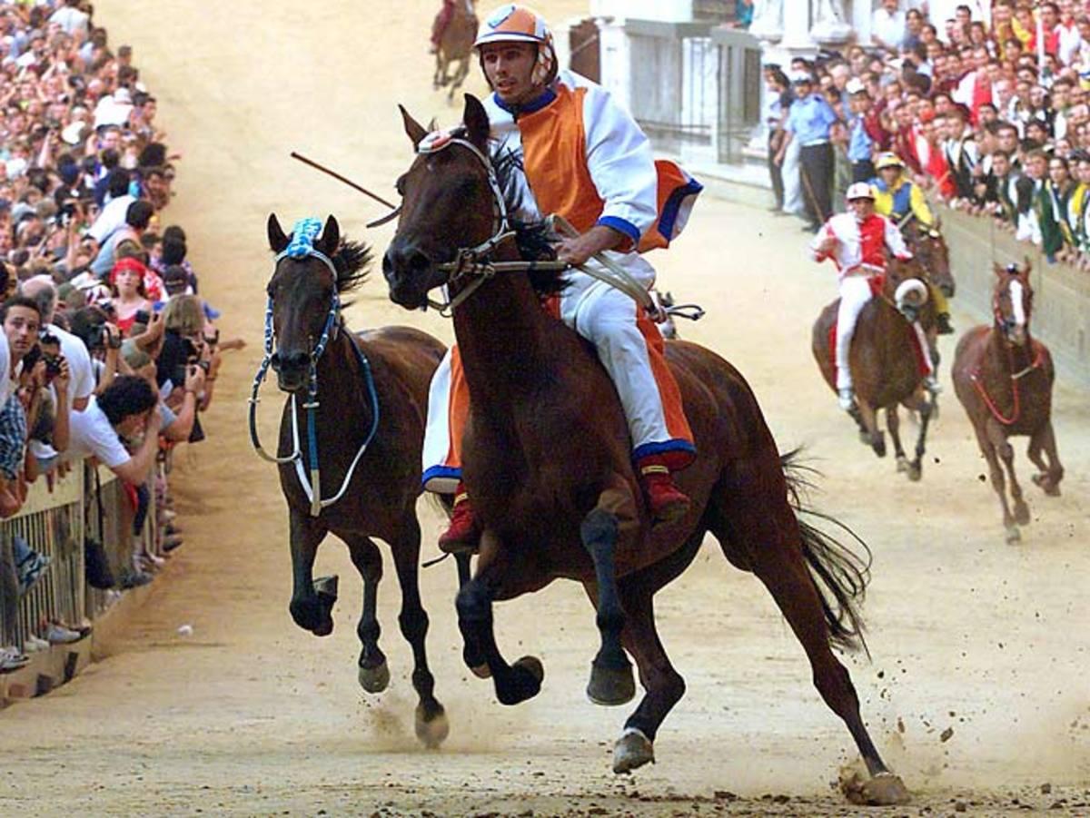 The Palio horse race, 1987