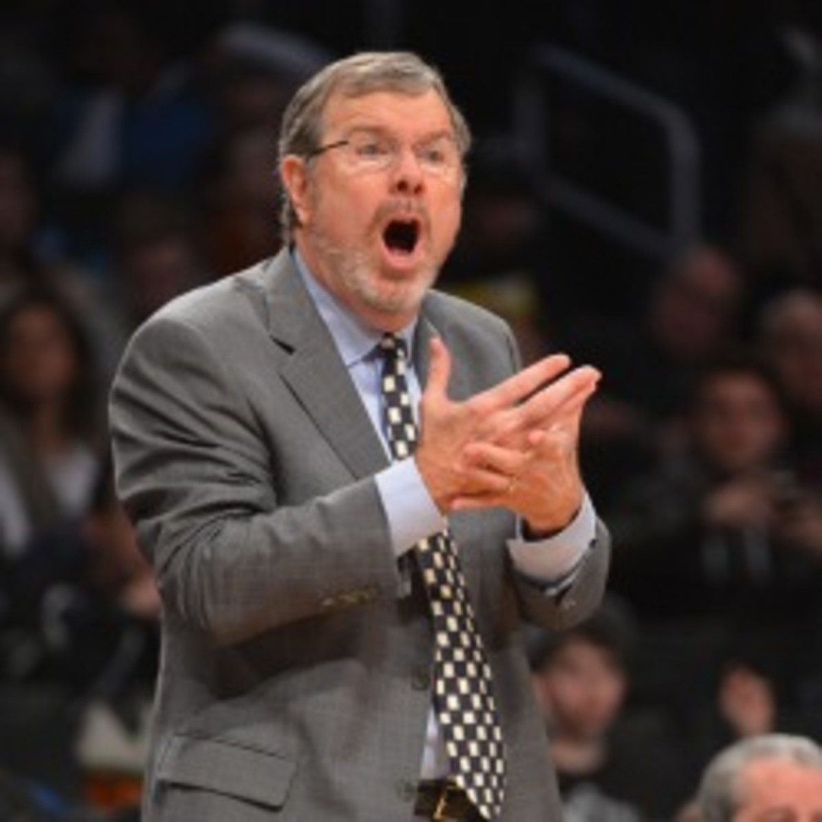 Nets GM Billy King says interim coach P.J. Carlesimo has the team's support. (Jesse D. Garrabrant/NBA/Getty Images)