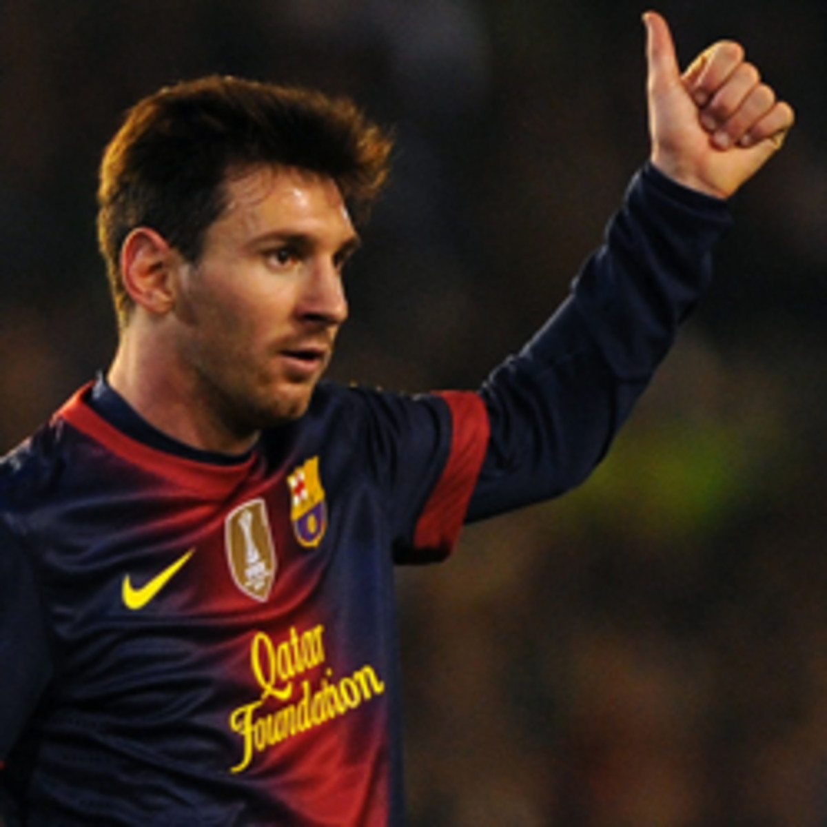 Lionel Messi has turned a record-breaking year into a new FC Barcelona contract. (JORGE GUERRERO/Getty Images)