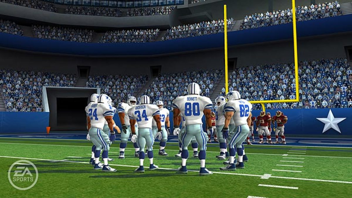 Cowboys huddle (Wii)