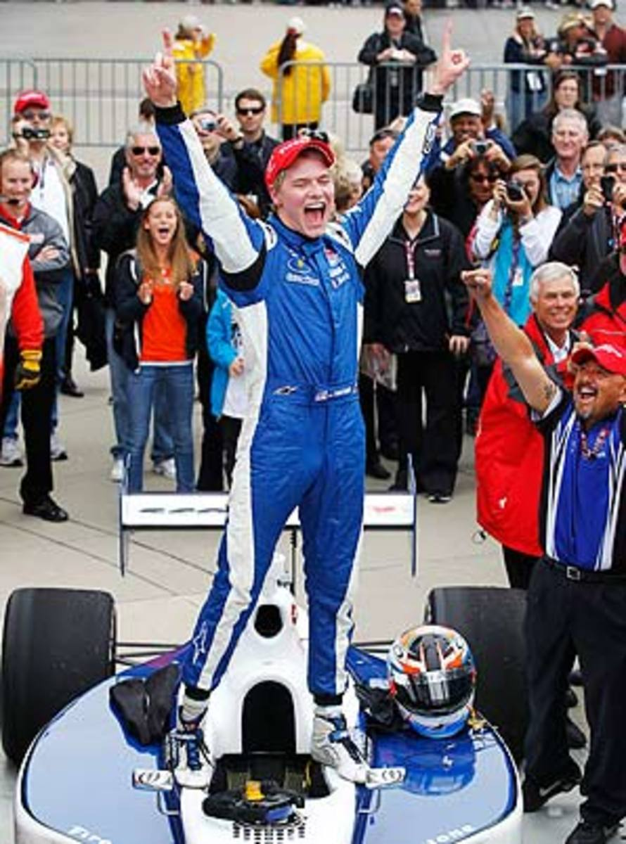 Josef Newgarden won five races in Indy Lights last year, including one at Indianapolis.