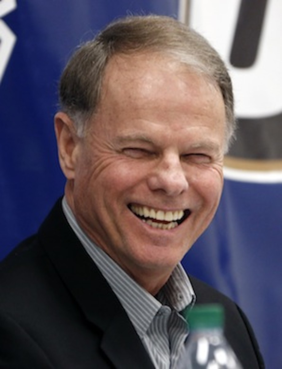 Here is a photo of Frank Solich smiling. We have never seen its equal. (AP)