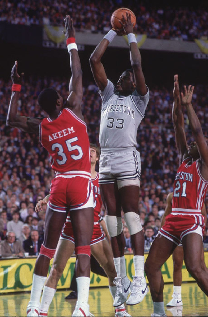 Pat Ewing and Akeem Olajuwon