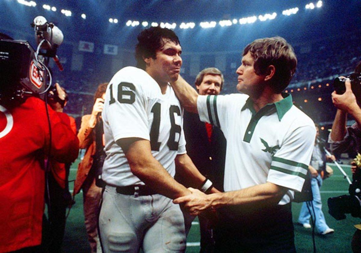 Dick Vermeil and Jim Plunkett