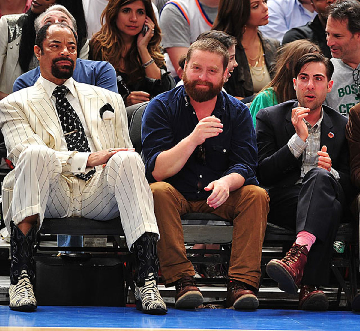 Walt Frazier, Zach Galifianakis, Jason Schwartzman