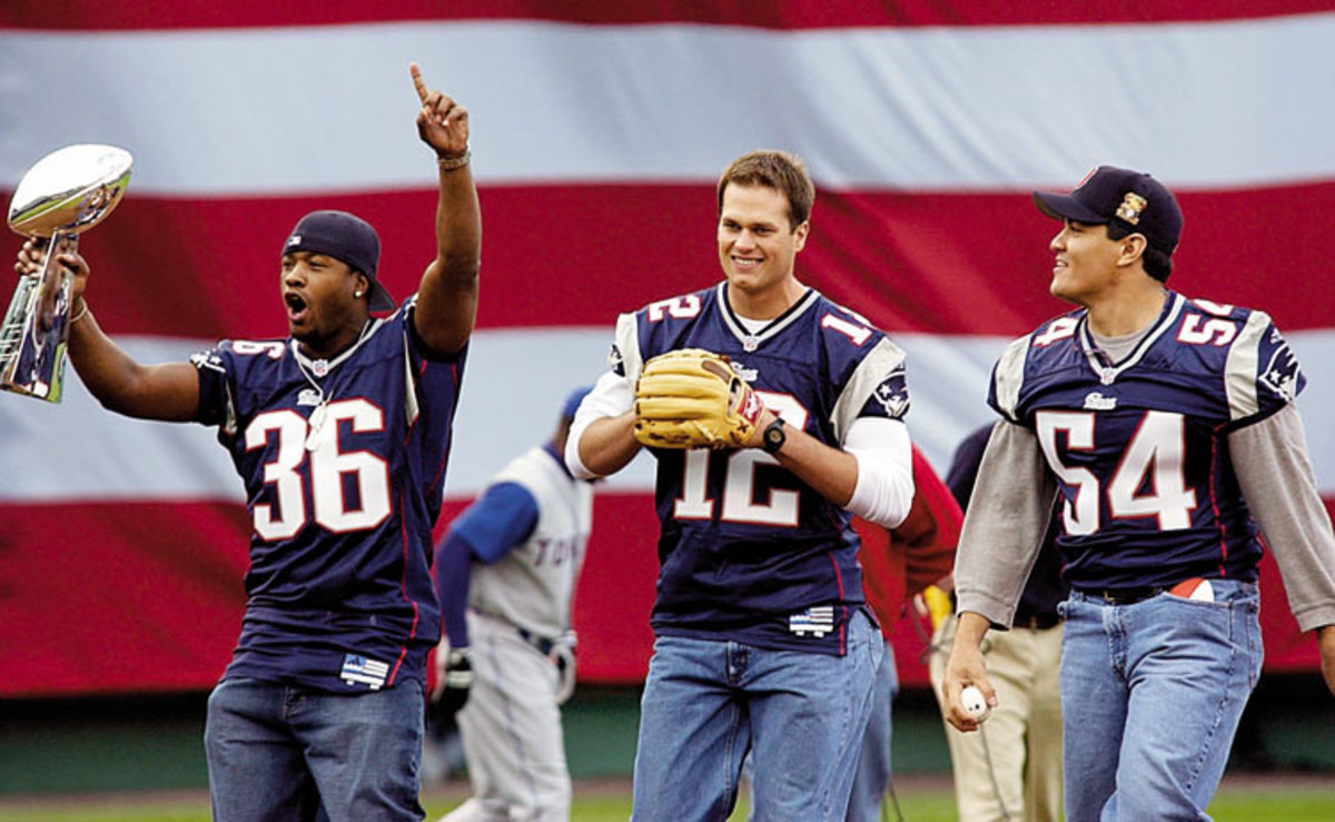 Lawyer Milloy, Tom Brady and Ted Bruschi