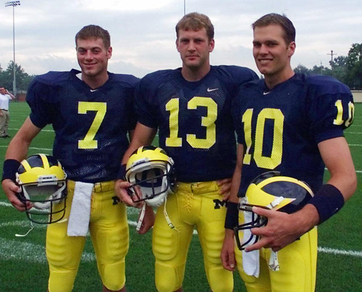 Drew Henson, Jason Kapsner and Tom Brady