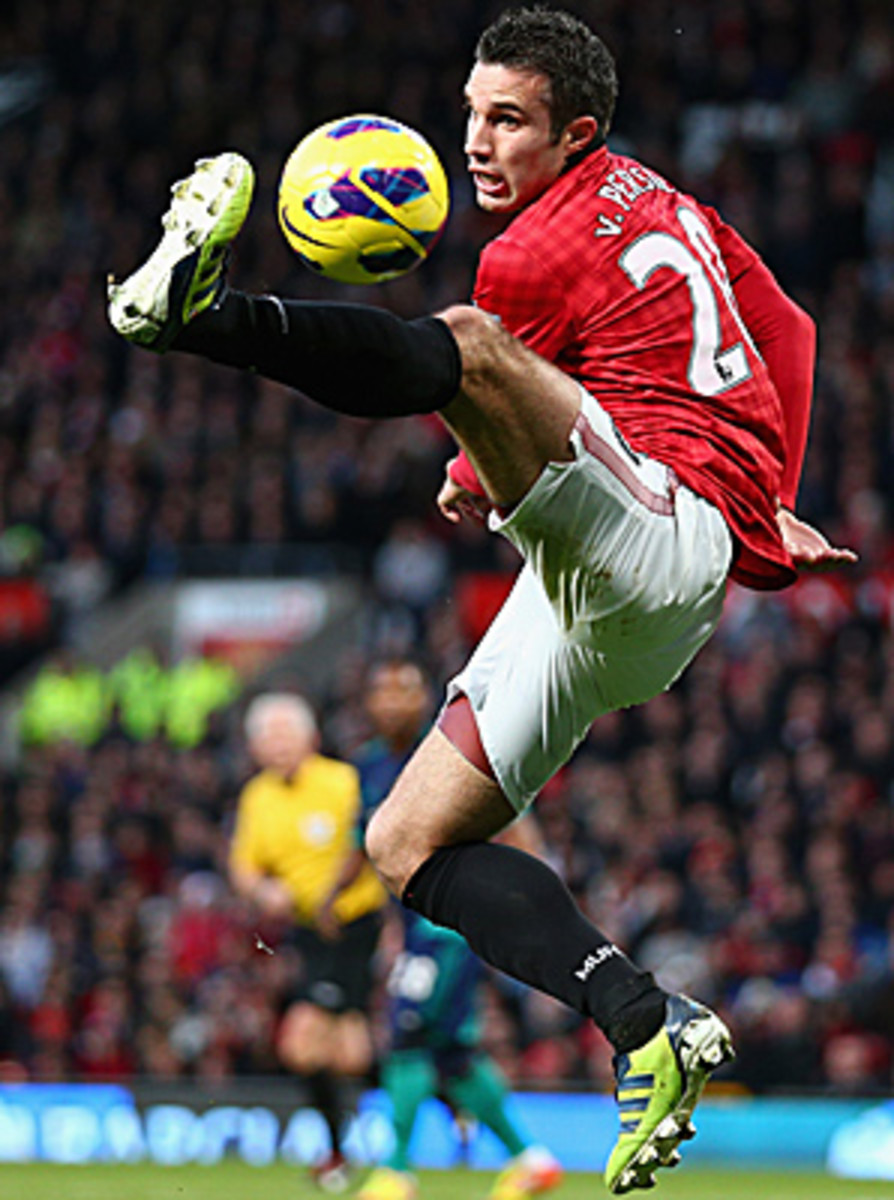 Robin van Persie now has 16 goals on the season for Manchester United.