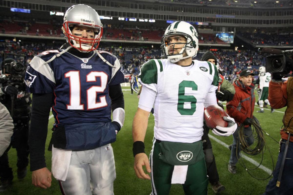 Tom Brady and Mark Sanchez