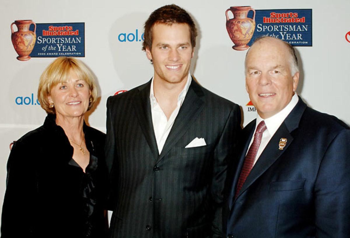 Galynn Brady, Tom Brady and Tom Brady Sr.