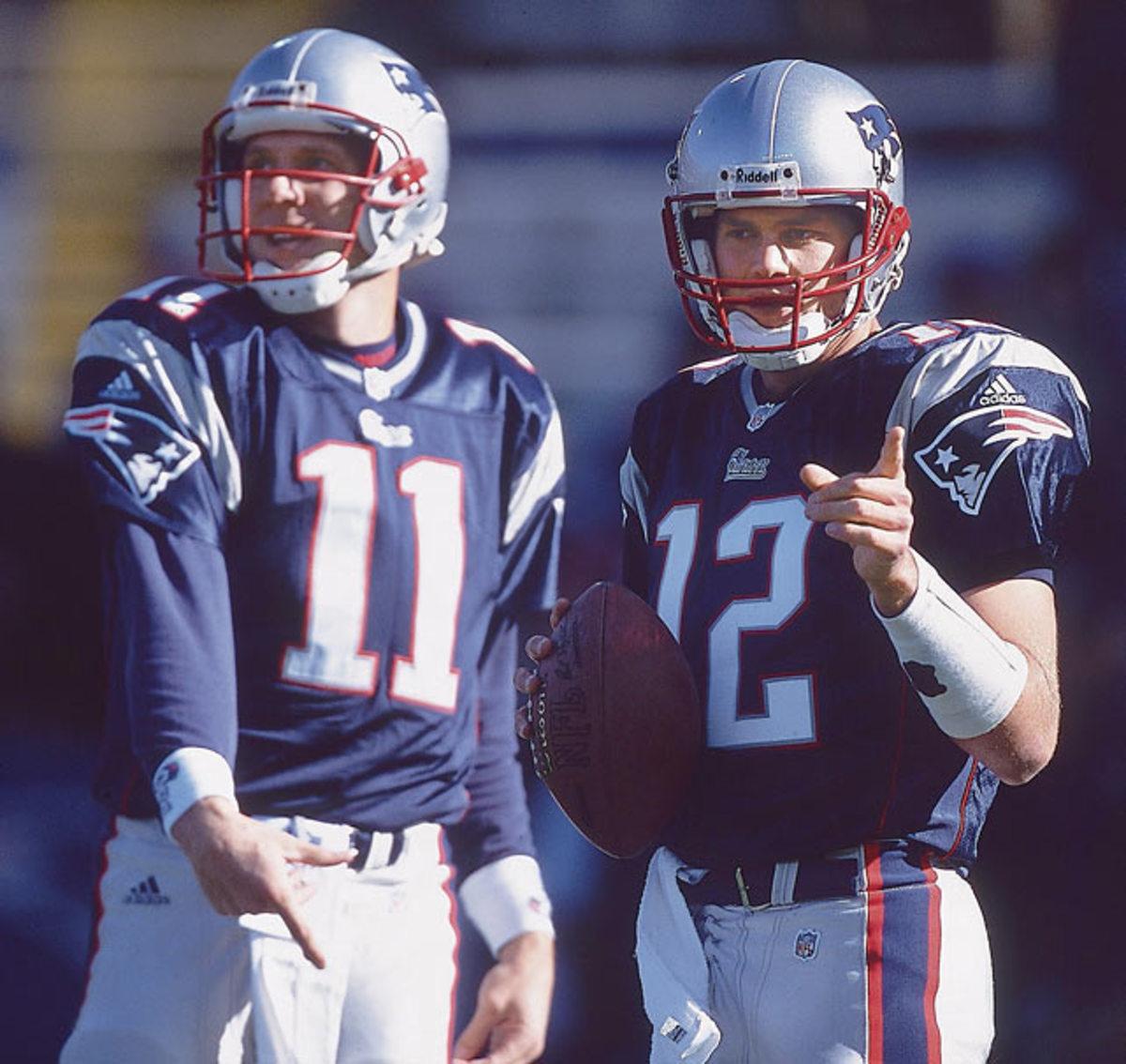 Drew Bledsoe and Tom Brady