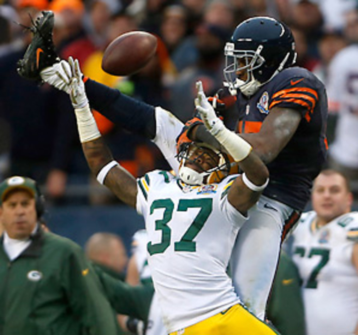 Sam Shields' work against Alshon Jeffery made life difficult for Jay Cutler and the Bears' passing game. (Brian Cassella/MCT/ABACAUSA.COM)