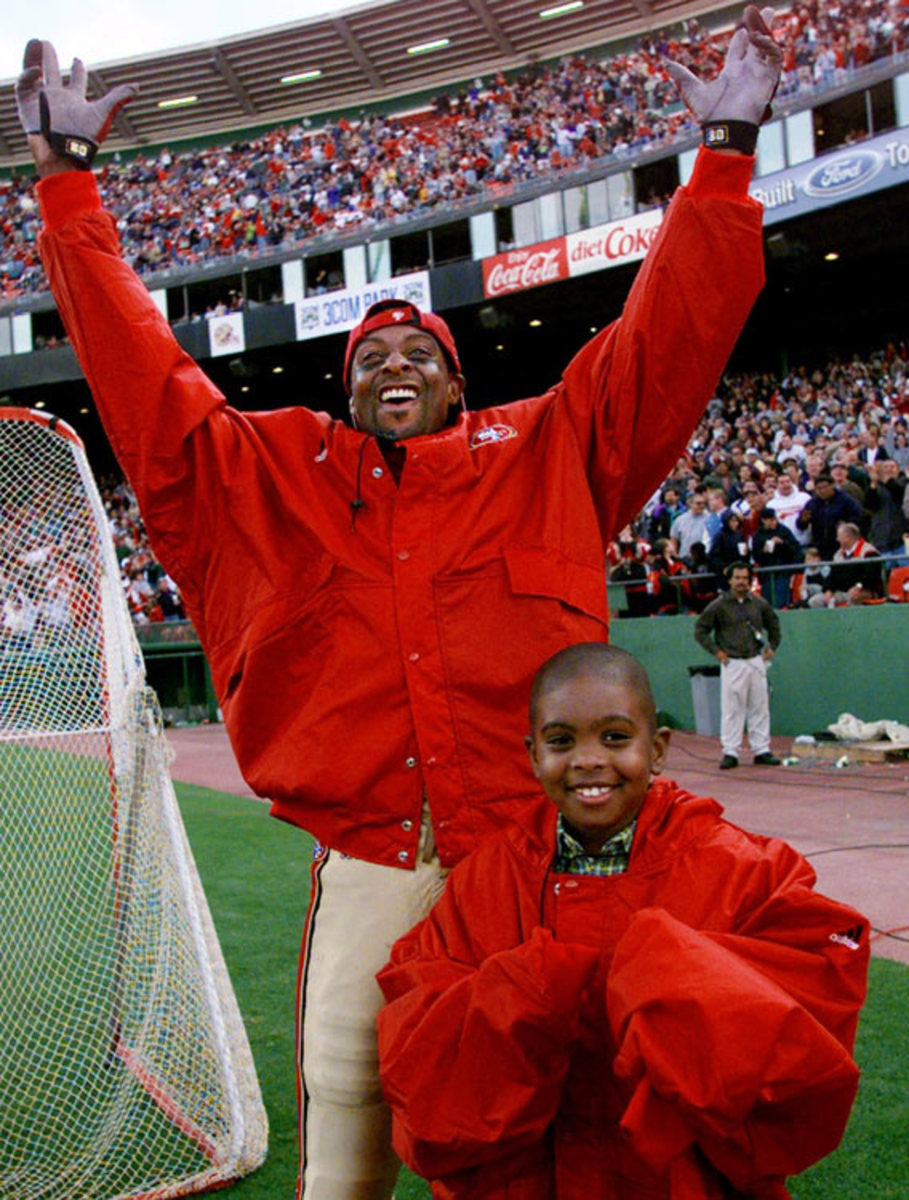 Jerry Rice and son