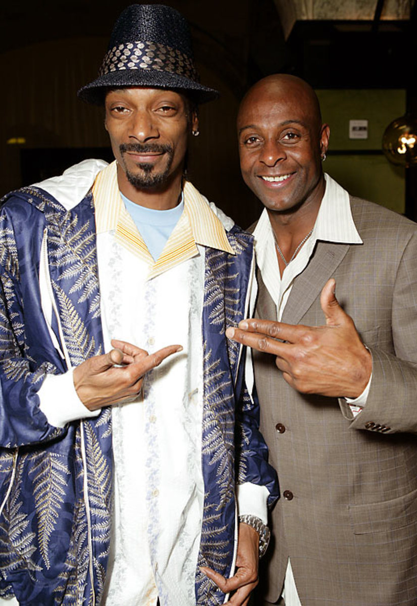 Jerry Rice and Snoop Dogg