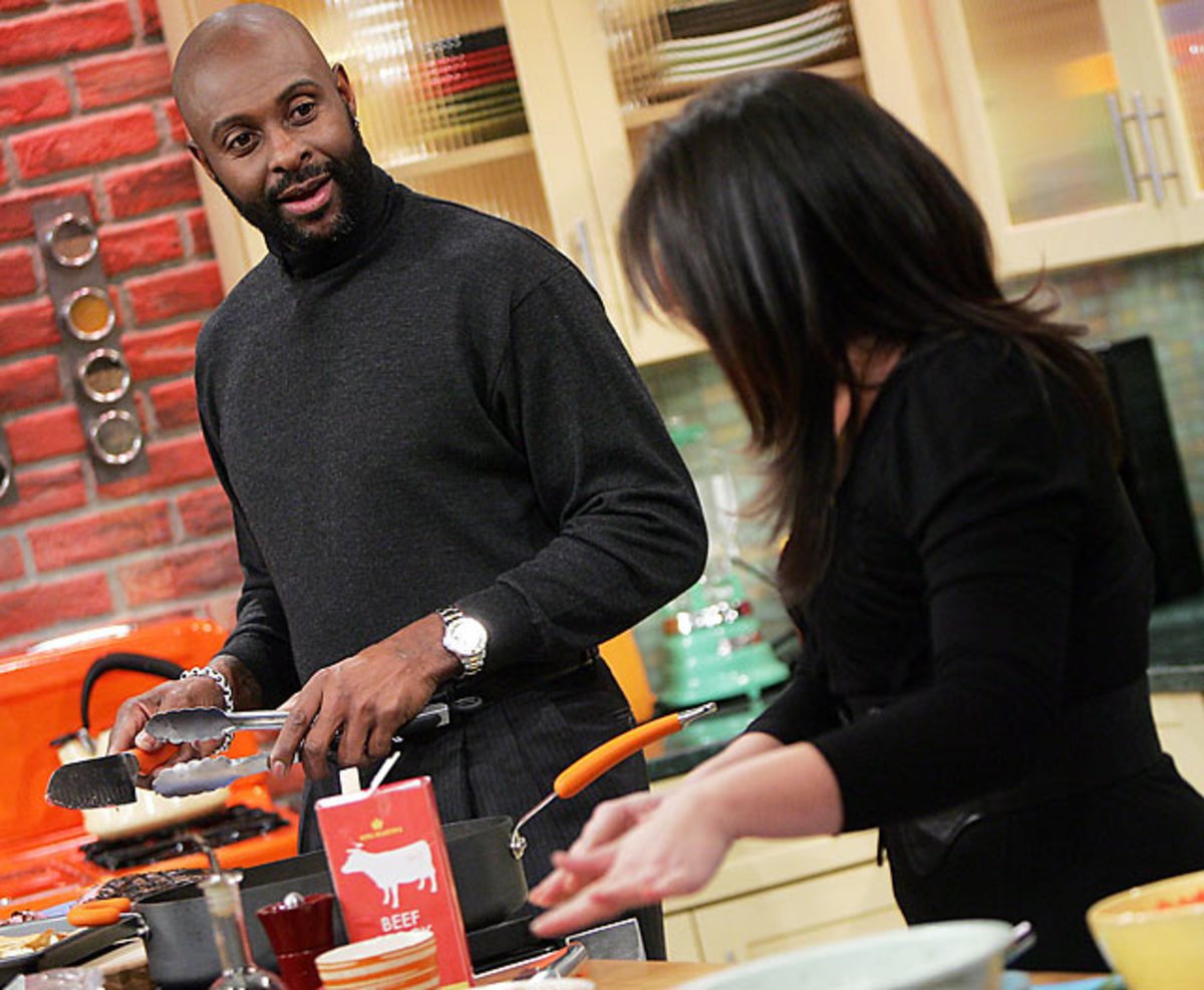 Jerry Rice and Rachel Ray
