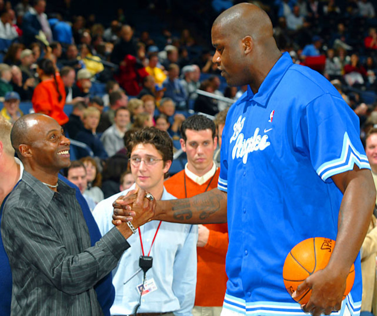 Jerry Rice and Shaquille O'Neal