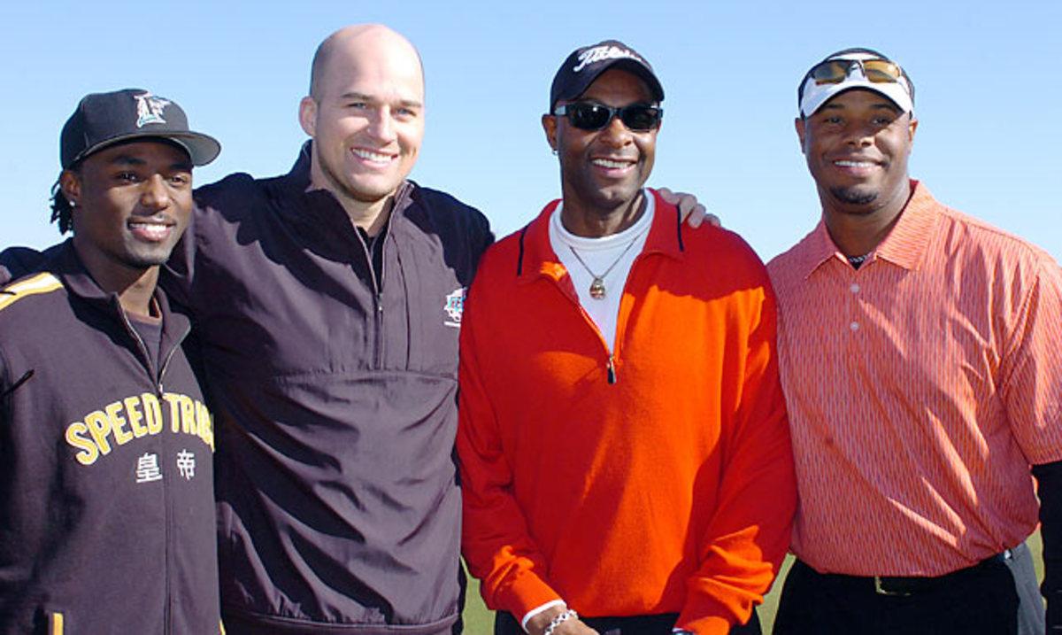 Jerry Rice, Santonio Holmes, Matt Hasselbeck and Ken Griffey Jr.