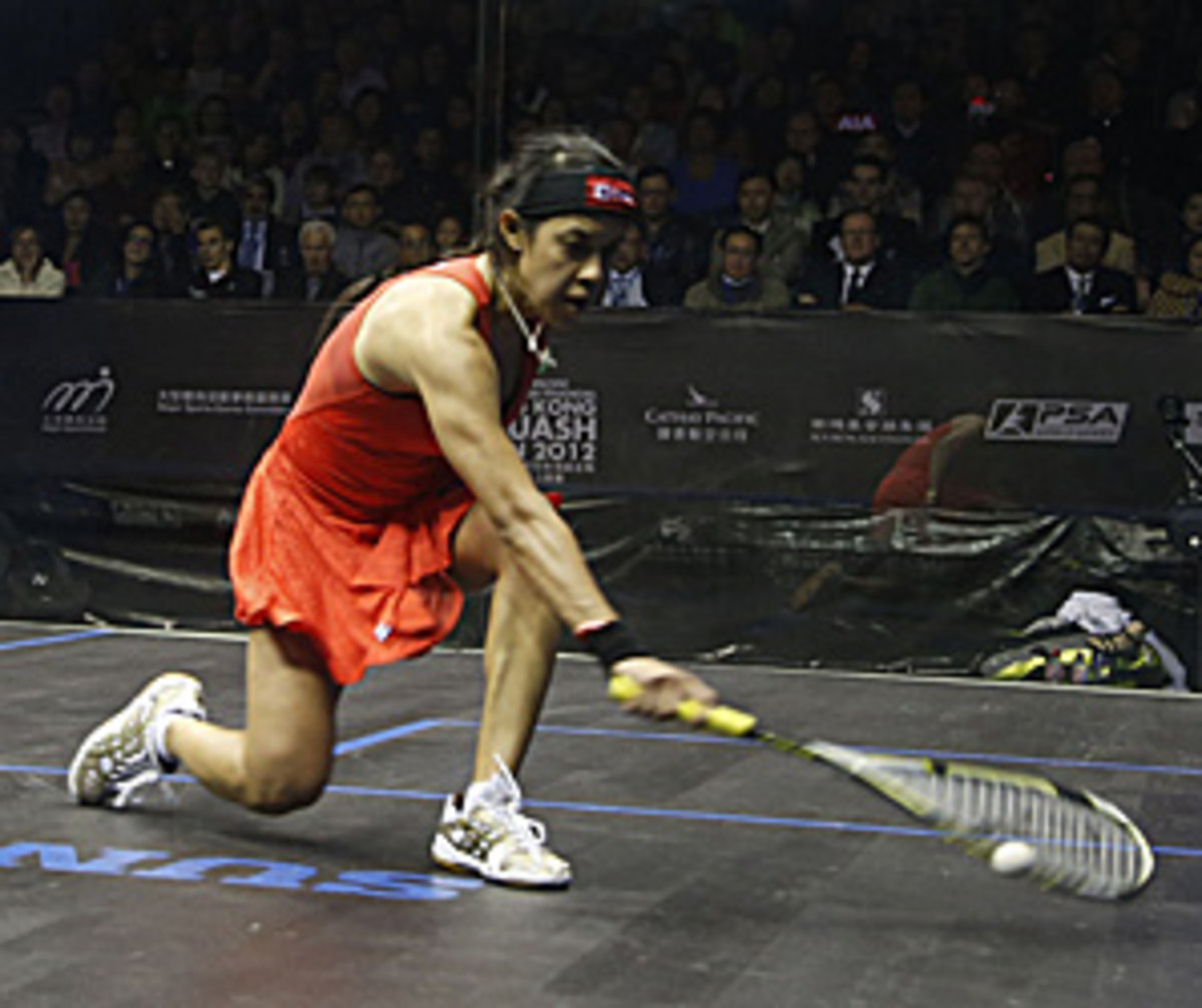 Nicol David, shown here in a Dec. 2 match in Hong Kong, beat first-time finalist Laura Massaro of England.