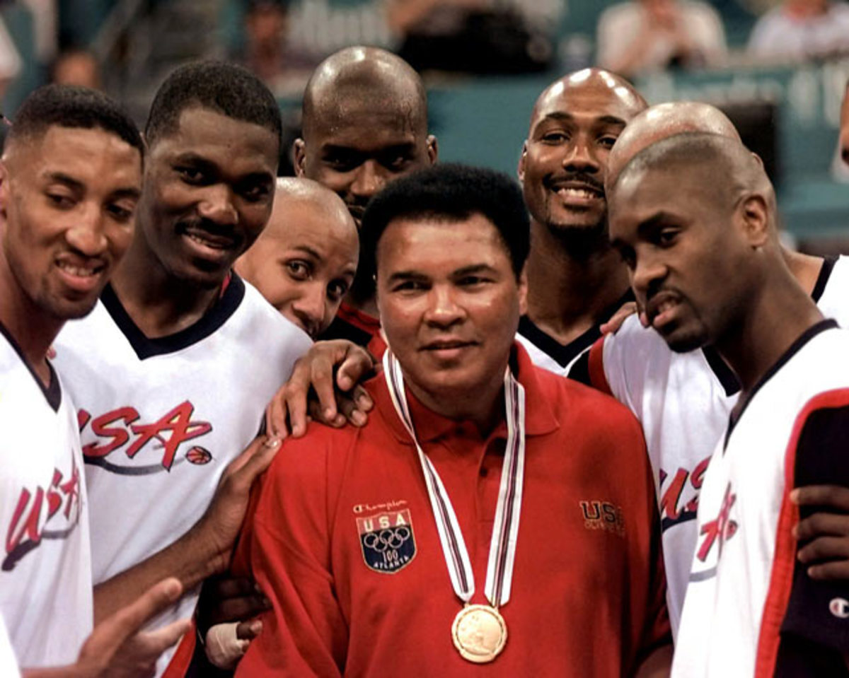 Scottie Pippen, Hakeem Olajuwon, Reggie Miller, Shaquille O'Neal, Karl Malone, Gary Payton and Muhammad Ali