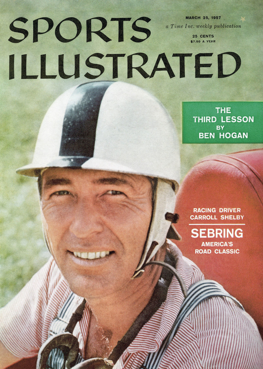 Carroll Shelby graced the cover of Sports Illustrated in 1957, when he was still racing. (Robert Halmi/SI)