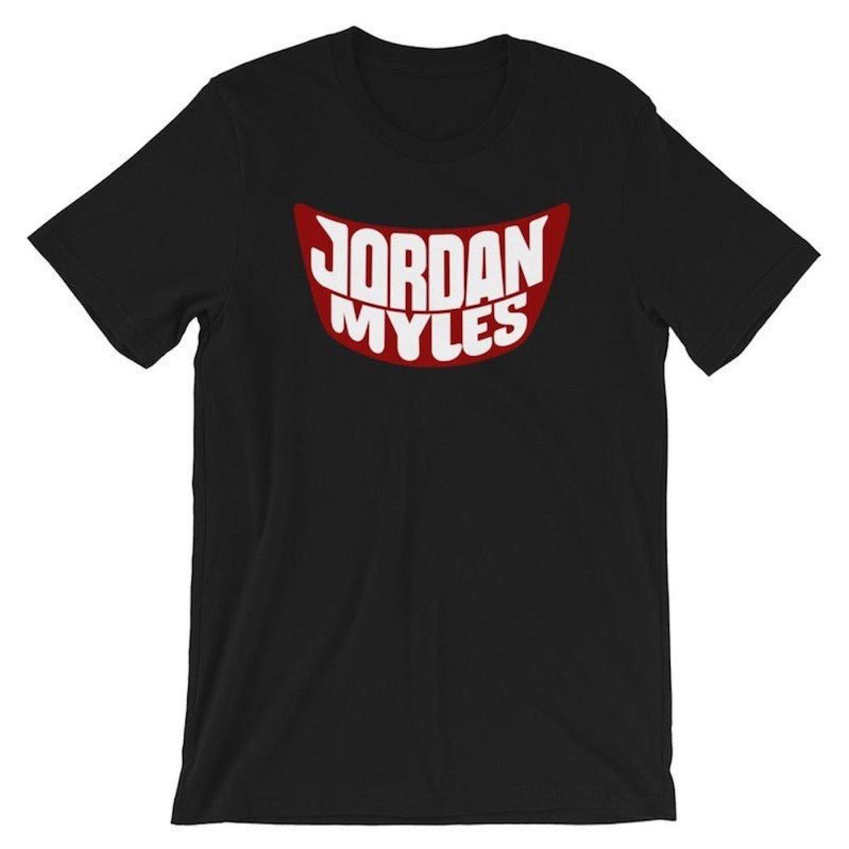 The shirt Jordan Myles decried as racist