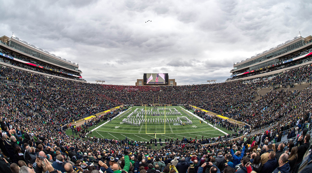 Image result for notre dame sellout streak