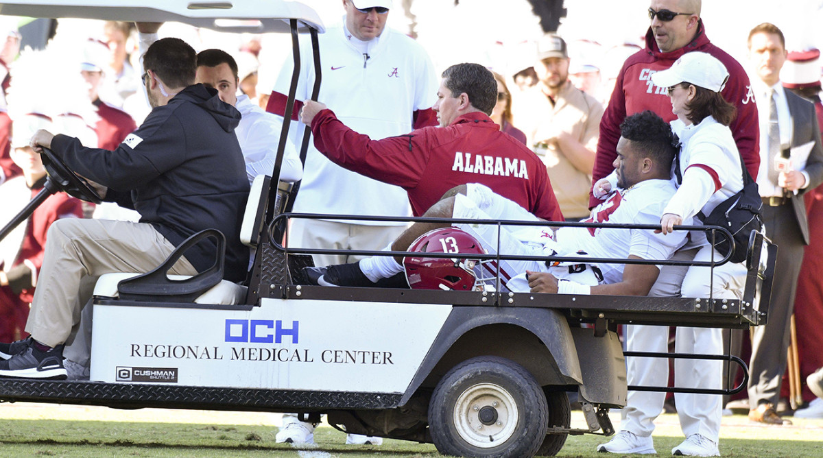 Alabama QB Tua Tagovailoa Out for Season With a Dislocated Hip